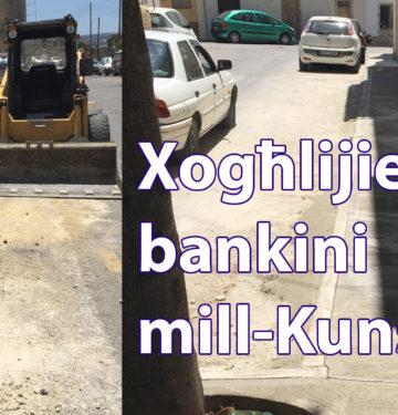 Jibda programm ta' xogħol ta' bankini