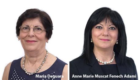 Dr Maria Deguara and Anne Marie Muscat Fenech Adami